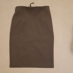 NWT - Army Green Zip Back Pencil Skirt